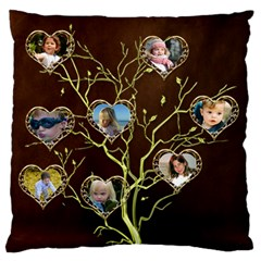 Family Tree Large Cushion Case (2 Sided) By Deborah   Large Cushion Case (two Sides)   Iuwxpvccl2lh   Www Artscow Com Front