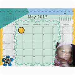 Ashlyn By Rainey   Wall Calendar 11  X 8 5  (12 Months)   Cowckh9lping   Www Artscow Com May 2013