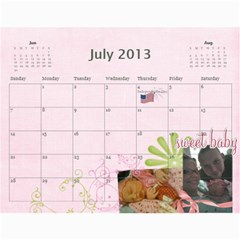 Ashlyn By Rainey   Wall Calendar 11  X 8 5  (12 Months)   Cowckh9lping   Www Artscow Com Jul 2013