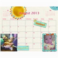 Ashlyn By Rainey   Wall Calendar 11  X 8 5  (12 Months)   Cowckh9lping   Www Artscow Com Aug 2013
