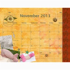 Ashlyn By Rainey   Wall Calendar 11  X 8 5  (12 Months)   Cowckh9lping   Www Artscow Com Nov 2013