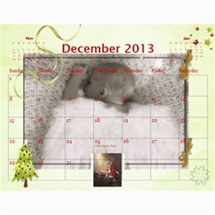 Ashlyn By Rainey   Wall Calendar 11  X 8 5  (12 Months)   Cowckh9lping   Www Artscow Com Dec 2013