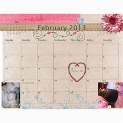 Ashlyn By Rainey   Wall Calendar 11  X 8 5  (12 Months)   Cowckh9lping   Www Artscow Com Feb 2013
