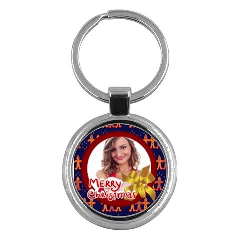 Xmas By Clince   Key Chain (round)   Bttfpasvu5qo   Www Artscow Com Front