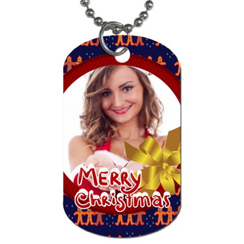 Merry Christmas By Clince   Dog Tag (one Side)   0a9s62t25p1k   Www Artscow Com Front
