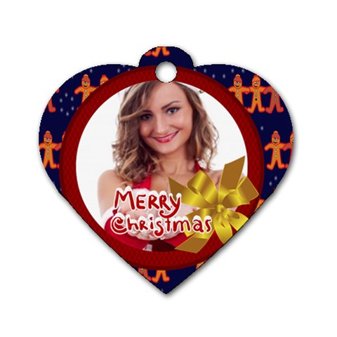 Xmas By Clince   Dog Tag Heart (one Side)   Ue6e8jpziwiu   Www Artscow Com Front