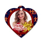 xmas - Dog Tag Heart (One Side)