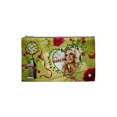 Small Cosmetic Bag Keely Christmas By Pat Kirby   Cosmetic Bag (small)   Gjic56b55cxg   Www Artscow Com Front