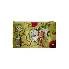Small Cosmetic Bag Keely Christmas By Pat Kirby   Cosmetic Bag (small)   Gjic56b55cxg   Www Artscow Com Back