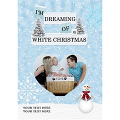 White Christmas 7x5 3d Card By Lil    Heart Bottom 3d Greeting Card (7x5)   Q85z4etko5gp   Www Artscow Com Inside