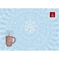 White Christmas 7x5 3d Card By Lil    Heart Bottom 3d Greeting Card (7x5)   Q85z4etko5gp   Www Artscow Com Back