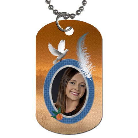 Freedom Dog Tag (one Side) By Lil    Dog Tag (one Side)   Y2ztexl1zw6z   Www Artscow Com Front