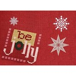 Holly Jolly Christmas 7x5 3D Card - Heart Bottom 3D Greeting Card (7x5)