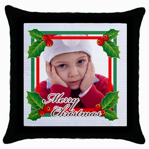 Xmas By Jacob   Throw Pillow Case (black)   S9kix79nn0fc   Www Artscow Com Front