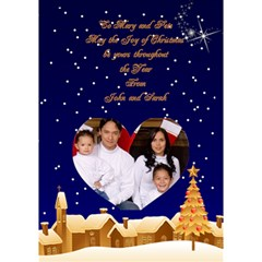 Christmas Village Heart 3d Card By Deborah   Heart Bottom 3d Greeting Card (7x5)   I7yk9u7sqpfs   Www Artscow Com Inside