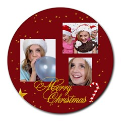Xmas By M Jan   Collage Round Mousepad   G6jjta6pzwye   Www Artscow Com 8 x8  Round Mousepad - 11