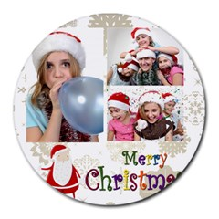 Xmas By M Jan   Collage Round Mousepad   G6jjta6pzwye   Www Artscow Com 8 x8  Round Mousepad - 12