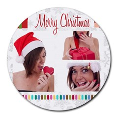Xmas By M Jan   Collage Round Mousepad   G6jjta6pzwye   Www Artscow Com 8 x8  Round Mousepad - 14