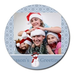 Xmas By M Jan   Collage Round Mousepad   G6jjta6pzwye   Www Artscow Com 8 x8  Round Mousepad - 17
