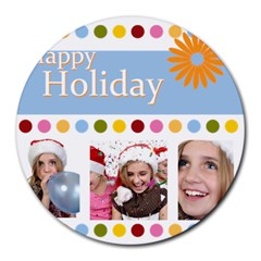 Xmas By M Jan   Collage Round Mousepad   G6jjta6pzwye   Www Artscow Com 8 x8  Round Mousepad - 7