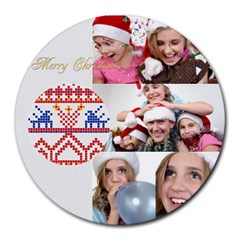 Xmas By M Jan   Collage Round Mousepad   G6jjta6pzwye   Www Artscow Com 8 x8  Round Mousepad - 9