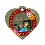 thank you - Dog Tag Heart (Two Sides)