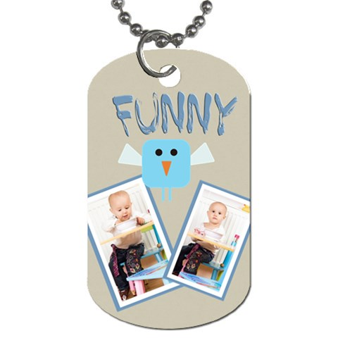 Funny By Jacob   Dog Tag (one Side)   N5ackiy7l7of   Www Artscow Com Front
