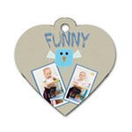 funny - Dog Tag Heart (One Side)