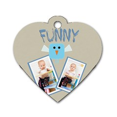 Funny By Jacob   Dog Tag Heart (two Sides)   Zf4y0egsvg3y   Www Artscow Com Front