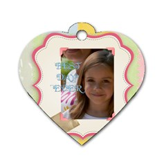 Funny By Jacob   Dog Tag Heart (two Sides)   Twjqlux3t4jo   Www Artscow Com Front