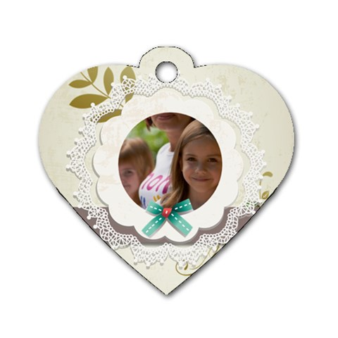 Baby By Jacob   Dog Tag Heart (one Side)   D0s7lxwojla8   Www Artscow Com Front