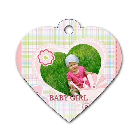 Baby By Jacob   Dog Tag Heart (one Side)   5a3o63jskip8   Www Artscow Com Front