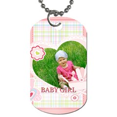 Baby By Jacob   Dog Tag (two Sides)   Ph79tze5hd5t   Www Artscow Com Front