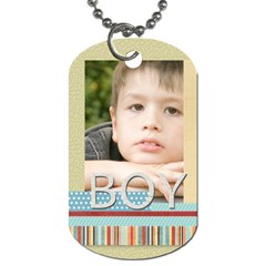 Boy By Jacob   Dog Tag (two Sides)   6hbr4a95qkjo   Www Artscow Com Back