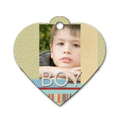 Boy By Jacob   Dog Tag Heart (two Sides)   Q01dz777kyqy   Www Artscow Com Front