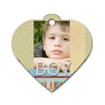 boy - Dog Tag Heart (One Side)