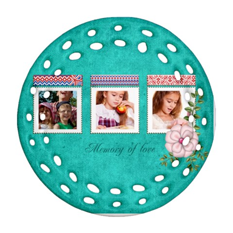 Memory By Joely   Ornament (round Filigree)   Q71fn17zsa4y   Www Artscow Com Front