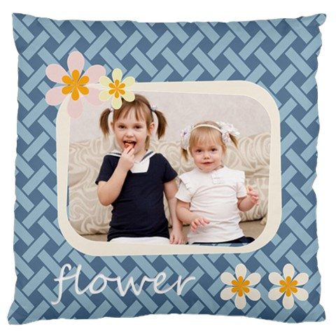 Flower By Joely   Large Cushion Case (one Side)   Xv6xo1s22d38   Www Artscow Com Front