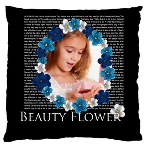 Flower By Joely   Large Cushion Case (one Side)   Mm7lzl7tigbu   Www Artscow Com Front