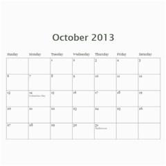 2013 Basic Black & White Calendar By Mim   Wall Calendar 11  X 8 5  (12 Months)   1b0wurlpb201   Www Artscow Com Oct 2013