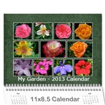Damask calendar for 2013 - Wall Calendar 11 x 8.5 (12-Months)
