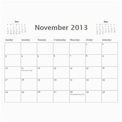 Damask Calendar For 2013 By Mim   Wall Calendar 11  X 8 5  (12 Months)   2xm01zbe0it5   Www Artscow Com Nov 2013