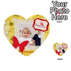 Happy Day By Joely   Multi Purpose Cards (heart)   M3p5xs0a12b3   Www Artscow Com Front 27