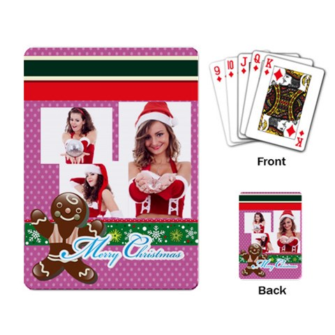 Xmas By Clince   Playing Cards Single Design   2eyiyse519mj   Www Artscow Com Back