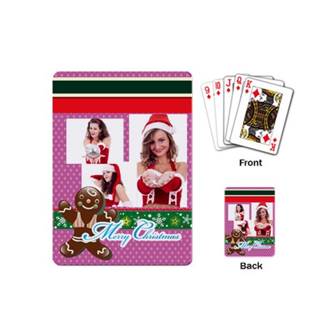 Xmas By Clince   Playing Cards (mini)   Y5fiq7orn2fq   Www Artscow Com Back