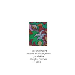 The Hummingbird By Susanne Alexander   Greeting Card 4 5  X 6    Uqmiu4e4jjr3   Www Artscow Com Back Cover