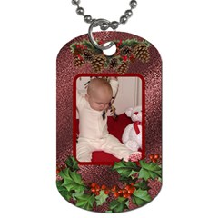 Christmas Holly 2 Sided Dog Tag By Lil    Dog Tag (two Sides)   Gpwu1noyoqyd   Www Artscow Com Back