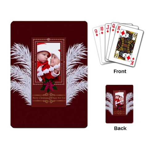 Xmas By Debe Lee   Playing Cards Single Design   Nl6ceqs453ef   Www Artscow Com Back