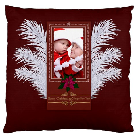 Xmas By Debe Lee   Large Cushion Case (one Side)   Bmjh15wopgix   Www Artscow Com Front