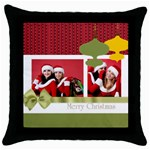 xmas gift  - Throw Pillow Case (Black)